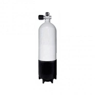 Stål flaske 12 Liter lang