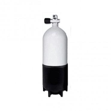 Stål flaske 12 Liter kort